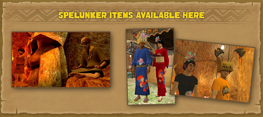 Spelunker Items Available Here