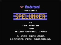 Title screen from Famicom Spelunker