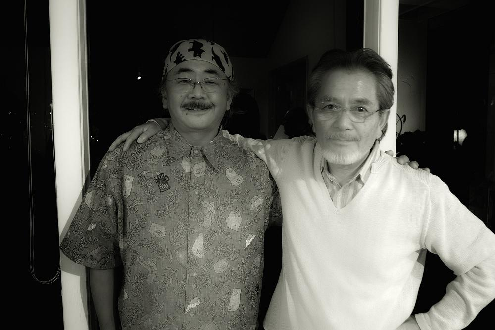 Nobuo and Scott, well-bred and well fed.